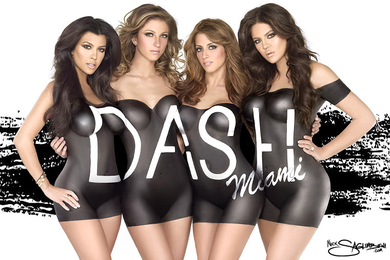 dash-khloe-kardashian-kourtney-nick-saglimbeni-miami-body-paint