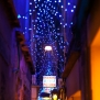 venice-italy-streets-alley-night-blue-lights-ristorante-centrale-pizzeria-by-nick-saglimbeni