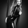 khloe-kardashian-odom-black-white-latex-sexy-nick-saglimbeni-swing