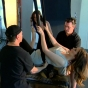 khloe-kardashian-odom-black-latex-sexy-shoot-slickforce-hanging-upside-down-stunt-team-2