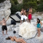laura-dore-italy-pebbles-slickforce-lighting-ocean-beach-rocks-water-capri-nick-saglimbeni-show-2