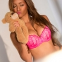 melanie-iglesias-pink-bra-slickforce-bedtime-teddy-bear-cute-kissing