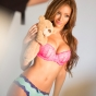 melanie-iglesias-pink-bra-slickforce-bedtime-teddy-bear-cute