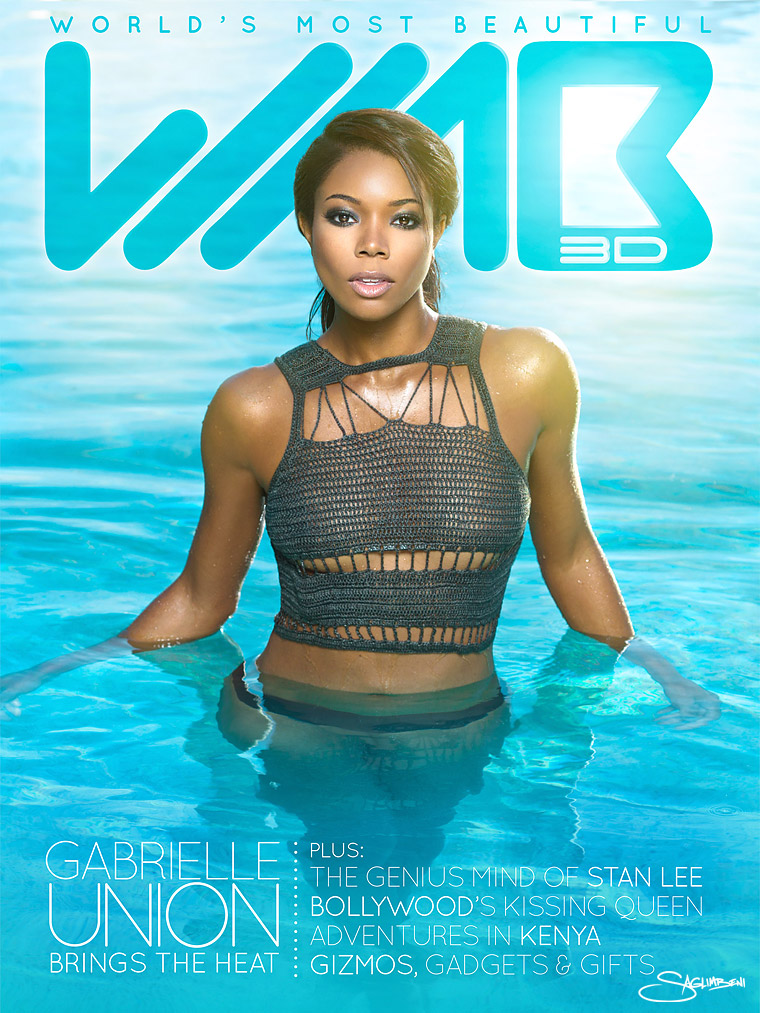 Gabrielle Union Brings the Heat for WMB 3D Issue 2