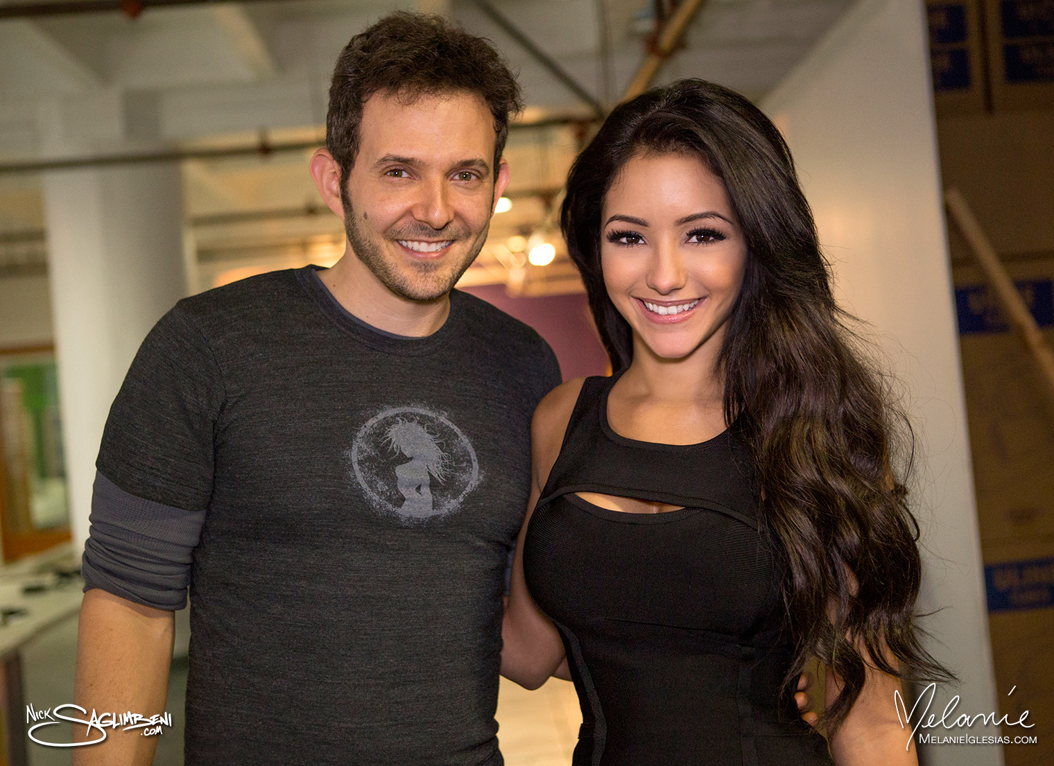 Nick Saglimbeni and Melanie Iglesias