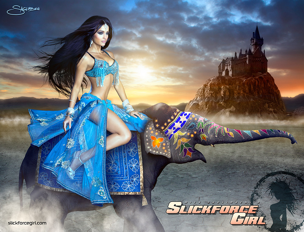 slickforcegirl-indian-princess-ayanna-jordan-elephant-castle-by-nick-saglimbeni